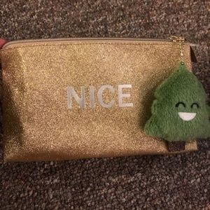 Gold glittery Makeup bag - never used
